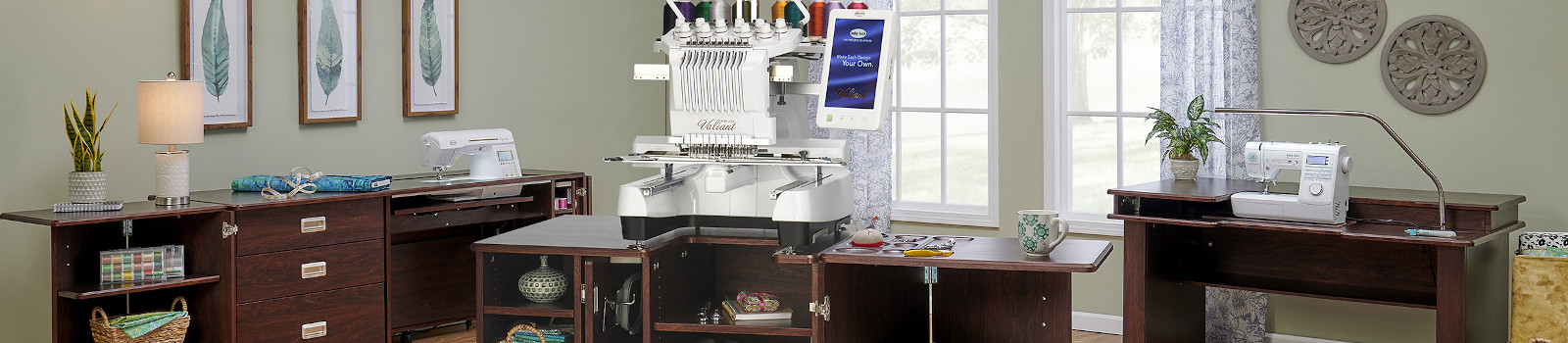 Koala Heritage Embroidery Center Sewing Cabinet