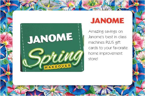 Janome Spring Savings