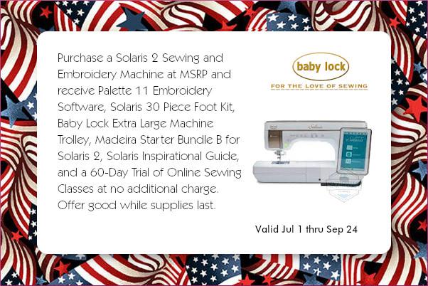 Baby Lock Solaris 2