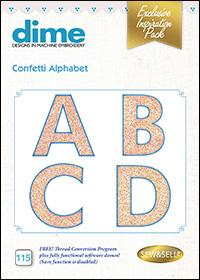 DIME Inspiration Designs - Confetti Alphabet