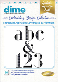DIME Inspiration Designs - Alphabet Lowercase & Numbers