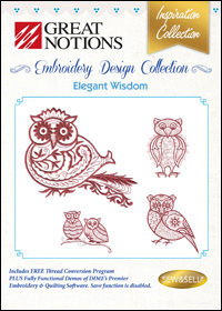 Great Notions Embroidery Designs - Elegant Wisdom