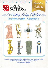 Great Notions Embroidery Designs - Image by Design – Collection 1