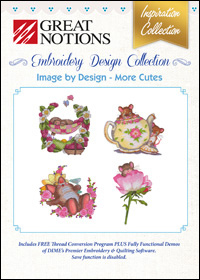 Great Notions Embroidery Designs - Image by Design – More Cutes