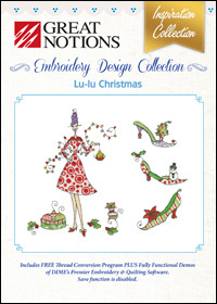 Great Notions Embroidery Designs - Lu-lu Christmas