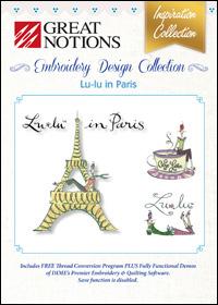 Great Notions Embroidery Designs - Lu-lu in Paris