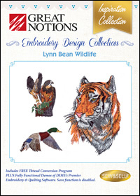 Great Notions Embroidery Designs - Lynn Bean Wildlife