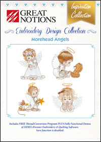 Great Notions Embroidery Designs - Morehead Angels