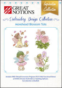 Great Notions Embroidery Designs - Morehead Blossom Tots