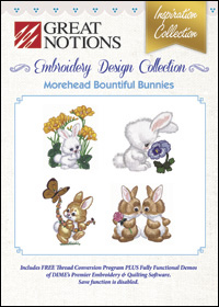 Great Notions Embroidery Designs - Morehead Bountiful Bunnies