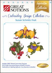 Great Notions Embroidery Designs - Susan Schmitz Fruit