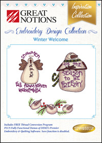 Great Notions Embroidery Designs - Winter Welcome