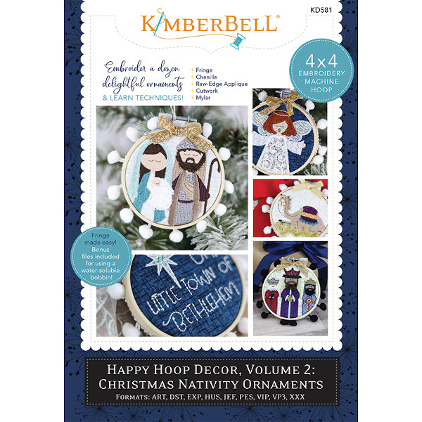 Kimberbell Designs - Happy Hoop Decor, Volume 2, Christmas Nativity Ornaments