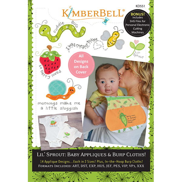 Kimberbell Designs - Lil' Sprout Baby Appliques & Burp Clothes