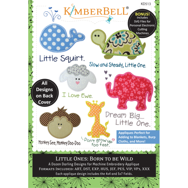 Kimberbell Designs - LIttle Ones, Volume 1, Born to be Wild