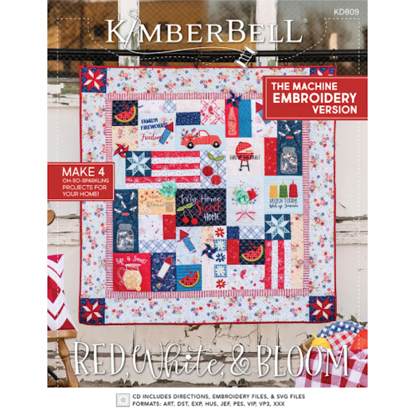 Kimberbell Designs - Red, White & Bloom, Machine Embroidery