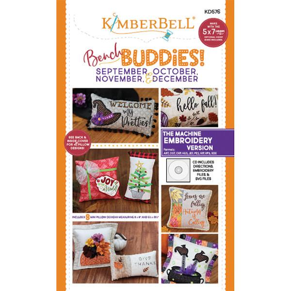 Kimberbell Designs - Bench Buddies, September, October, November, December, Machine Embroidery
