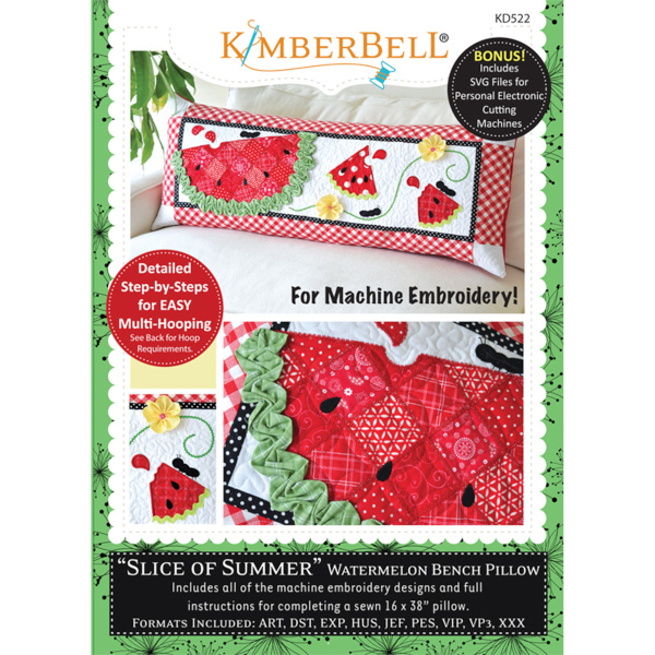 Kimberbell Designs - Bench Pillow, Slice of Summer, Machine Embroidery