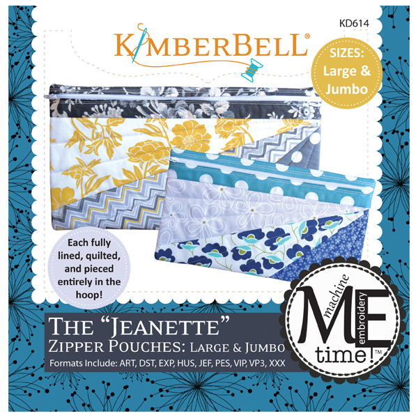 Kimberbell Designs - ME Time:  The Jeanette Zipper Pouch, Large & Jumbo